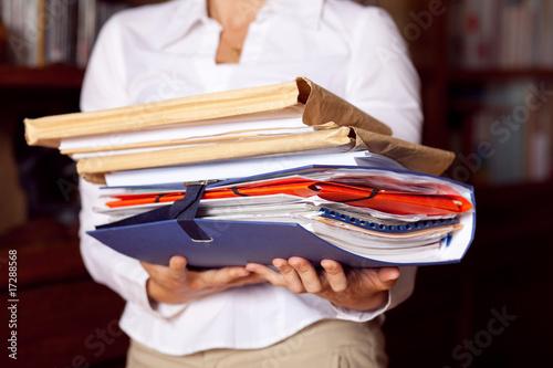 dossier papier administratif affaire signature contrat archive Canvas Print