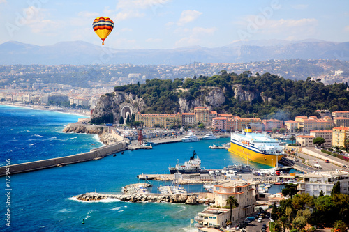 Fotobehang Nice aerial view of the city of Nice France
