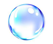 Vector Of Shiny Blue Ball