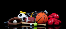 Assorted Sports Equipment On B...