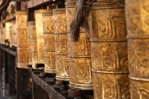 Fotografie, Obraz  Gebetsmühlen - prayer wheels