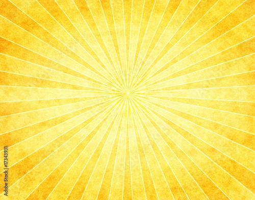 Fotografie, Obraz  Yellow Sunburst on Paper
