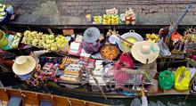 Floating Market, Damnon Saduak, Thailand.