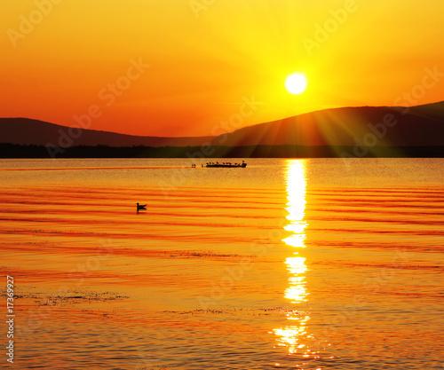 Staande foto Zeilen Sunset