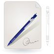 Notepad, pencil, sign