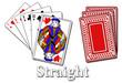 Pokerblatt - Straight