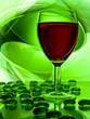 canvas print picture - Single wine glass