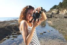 Jeune Femme Et Photos De Vacances