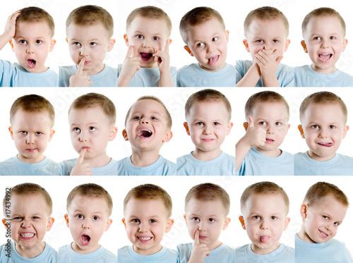 Fotografie, Obraz  Multiple facial expression