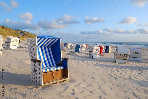 Foto-Leinwand - Strandkörbe auf Sylt