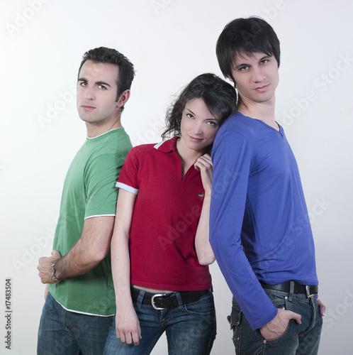 Valokuva  petit groupe de jeunes