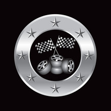 Checkered Flags And Tires In S...