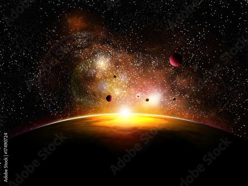 In de dag Heelal espace et planetes avec constelatin