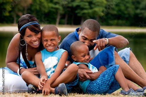 Fényképezés African family having fun