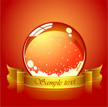 Vector Of Red Christmas Globe