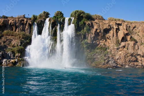 The Duden waterfall in Antalya. Turkey