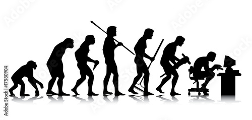 Human – business evolution Fotobehang