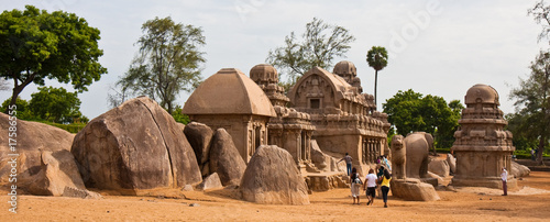 Valokuvatapetti Five Rathas Site in Mahabalipuram