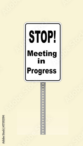stop sign meeting in progress buy this stock illustration and
