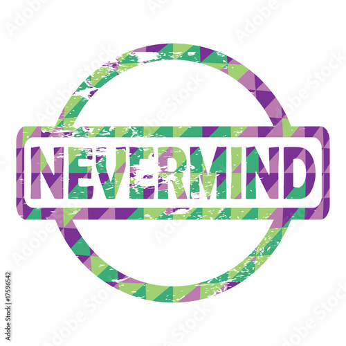 Photo  Nevermind stamp