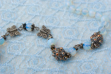 Blue Beads On Blue Lace