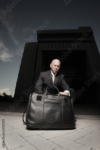 Foto op Aluminium Fantasie Landschap Man looking for files