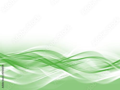 Staande foto Fractal waves fond abstrait vert