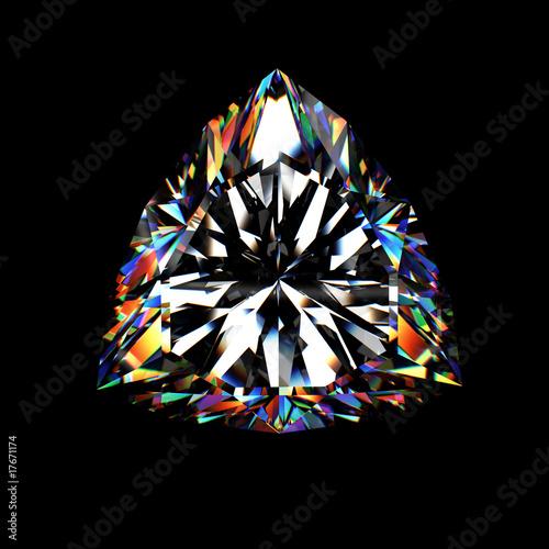 Tuinposter 3d brilliant cut diamond
