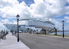 Cruise Liner Docked Side