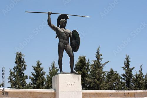 Photo Statue of Leonidas in Thermopolis, Greece