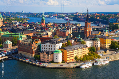 Panorama of Stockholm, Sweden Wallpaper Mural