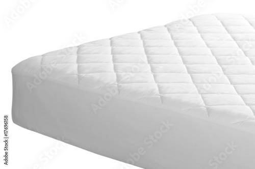Foto  Mattress cover. Clipping path