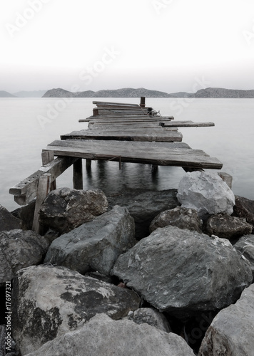 Jetty into a Mountain Lake