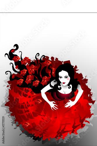 Floral femme rose