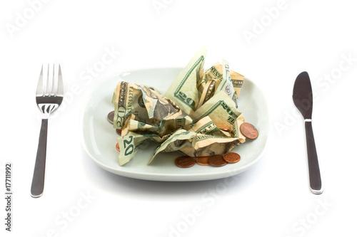 Fotografie, Obraz  Money salad with dressing of coins