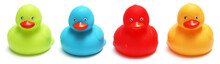 Four Rubber Ducks