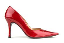 Single Red Shoe