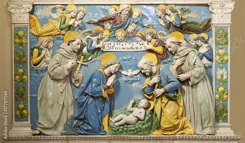 Weihnachtsmotiv Geburt christi Tableau sur Toile
