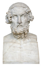 White Marble Bust Of The Greek...