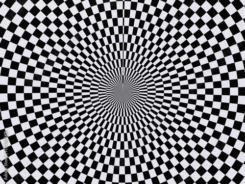 Poster Psychedelique black and white hypnotic wallpaper background