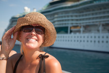 Beautiful Vacationing Woman Wi...