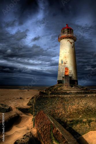 Foto op Aluminium Vuurtoren The Talacre Lighthouse