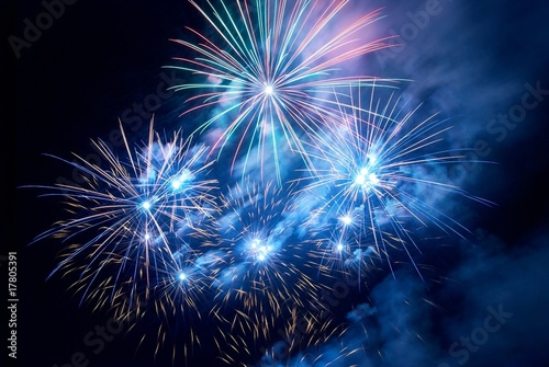 Obraz na plátně  Fireworks, salute.