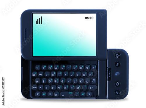 Fototapeta Modern mobile phone isolated on white background