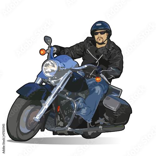 Poster Motocyclette biker