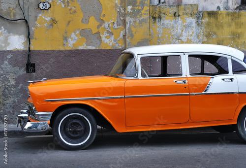 Deurstickers Cubaanse oldtimers Old Havana vintage car