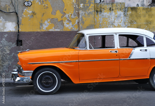 Türaufkleber Autos aus Kuba Old Havana vintage car