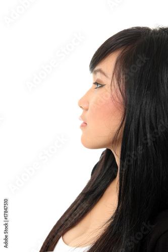 Fototapeta side view face obraz na płótnie