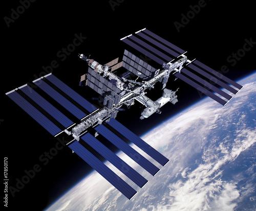 Illustration of ISS Canvas Print