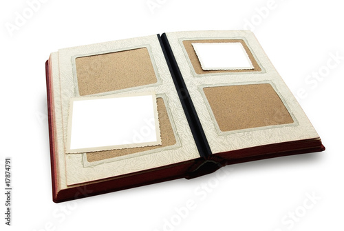 old family album for your photos with frames isolated on